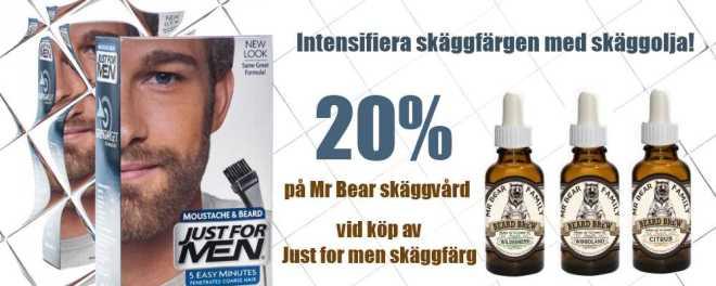 kampanj skäggvård mr bear