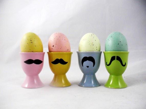 mustasch äggkoppar