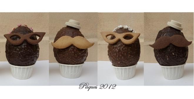 chokladägg mustasch