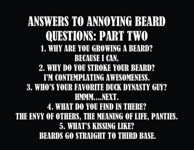 frågor om skägg